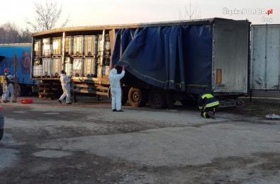 Policja odnalazła 700 tys. litrów chemikaliów na prywatnej posesji w Żorach!