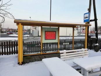 Ktoś w Żorach ukradł dekoracyjny przystanek autobusowy - policja prowadzi śledztwo