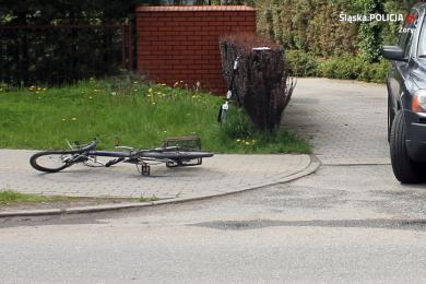 Wypadek na ulicy Rybnickiej w Żorach. Ranny został rowerzysta