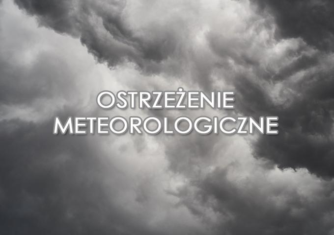 Ostrzeżenie meteorologiczne - mogą wystąpić burze