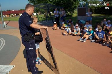 Prawie 50 uczniów spotkało się z policjantami na terenie Miasteczka Ruchu Drogowego