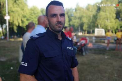 Policjant z Żor nagrodzony Brązową, Srebrną i Złotą Odznaką WOPR
