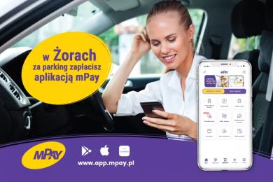 Zapłać za parkowanie w Żorach z pomocą aplikacji mPay